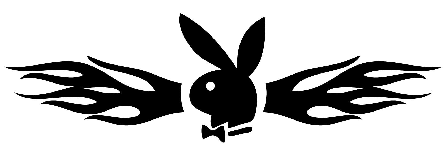 Flaming Playboy Bunny Sticker