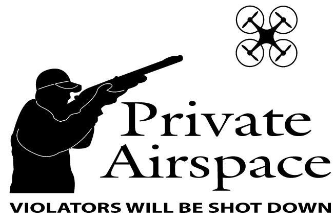 Private Airspace Drone Sticker