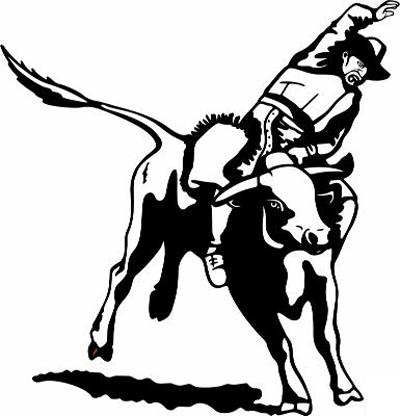 Bull Riding 10 Sticker