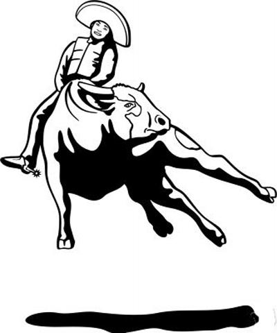 Bull Riding 5 Sticker