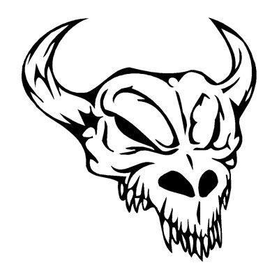 Cattle Skull Sticker