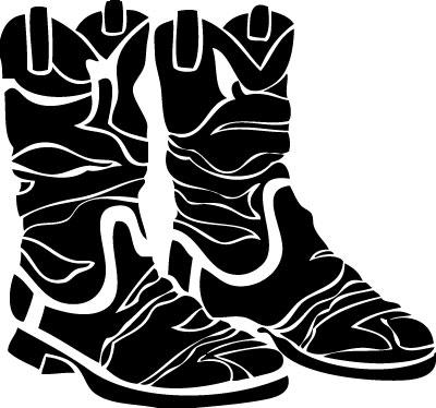 Mens Cowboy Boots Sticker