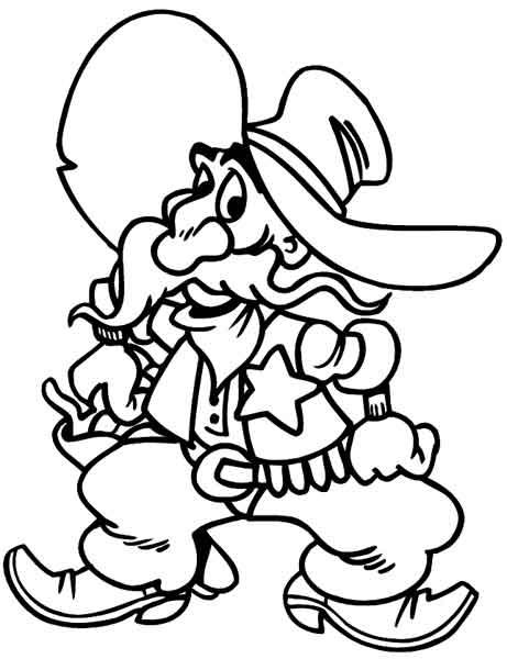 Cowboy Sherrif Sticker