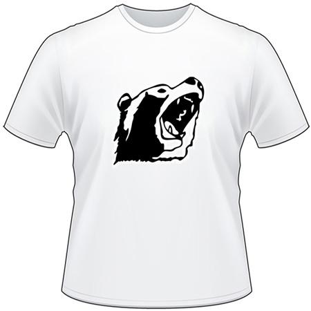Grizzly Bear Head T-Shirt