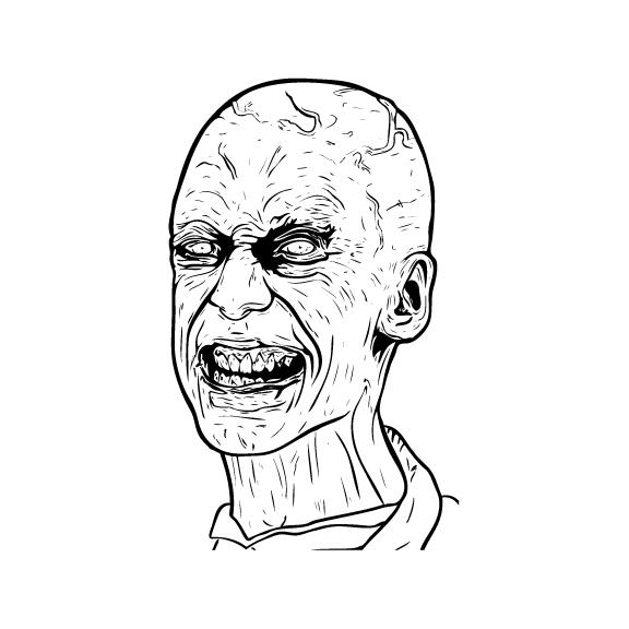 Zombie Head Sticker 2