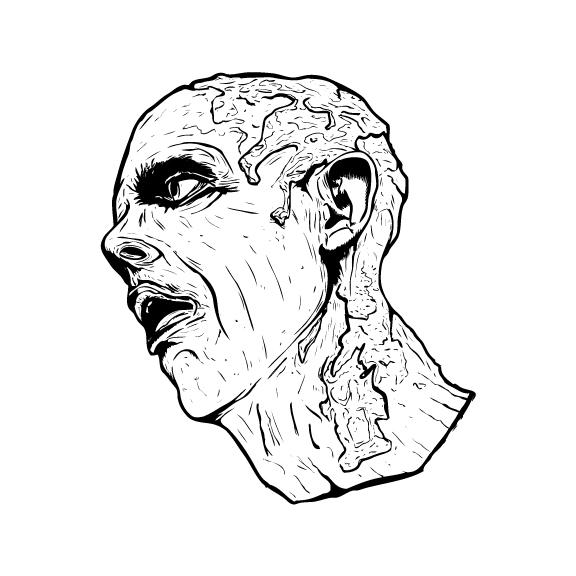 Zombie Head Sticker 3