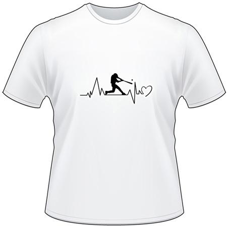 Baseball Heartbeat T-Shirt
