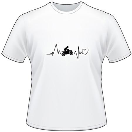Dirtbike Heartbeat T-Shirt