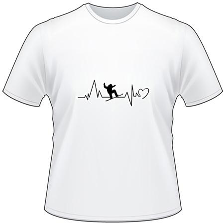 Snowboarder Heartbeat T-Shirt