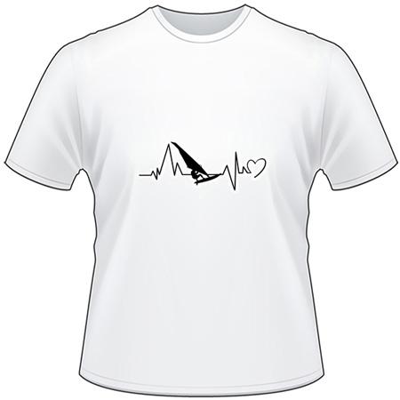 Windsurfing Heartbeat T-Shirt