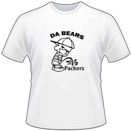 Da Bears Peeing on Packers T-Shirt