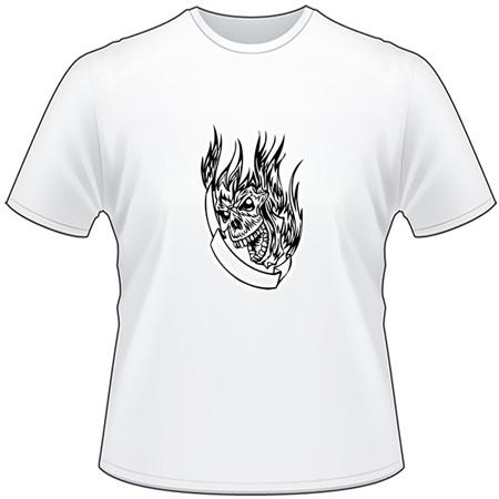 Flaming Skull T-Shirt 16