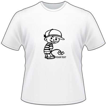 Hatboy Pee On T-Shirt