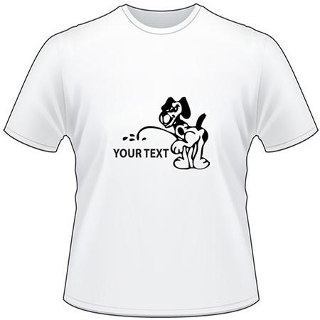 Dog Pee On T-Shirt