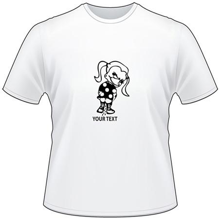 Girl Pee On T-Shirt