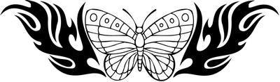 Tribal Butterfly Sticker 288