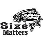 Size Matters Salmon Fishing Sticker 2
