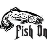 Fish On Salmon Fishing Sticker 3