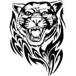Flaming Big Cat Sticker 14