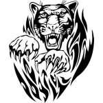 Flaming Big Cat Sticker 15