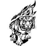Flaming Big Cat Sticker 21