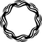 Round Flame Sticker 9