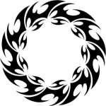 Round Flame Sticker 16