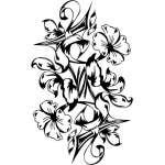 Tribal Flower Sticker 104