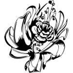 Tribal Flower Sticker 160
