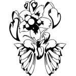 Tribal Flower Sticker 162