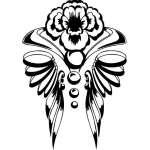 Tribal Flower Sticker 173