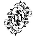 Tribal Flower Sticker 191