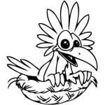 Funny Bird Sticker 19
