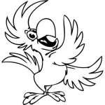 Funny Bird Sticker 88