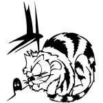 Funny Cat Sticker 2