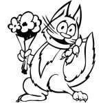 Funny Cat Sticker 9