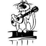 Funny Cat Sticker 22
