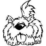 Funny Dog Sticker 4