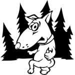 Funny Dog Sticker 41