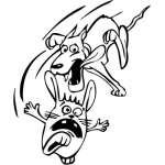 Funny Dog Sticker 45