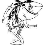 Funny Water  Animal Sticker 51