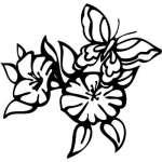 Tribal Flower Sticker 293