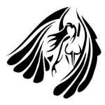 Tribal Angel Sticker