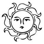 Sun2 Sticker
