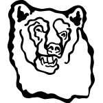 Bear Head Sticker 1