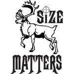 Size Matters Caribou Sticker 2