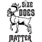 Size Matters Caribou Sticker 3