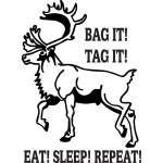 Bag it Tag it Caribou Sticker