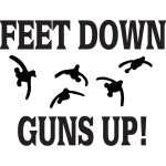 Feet Down Guns Up Sticker 2