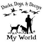 Ducks, Dogs, and Decoys My World Sticker